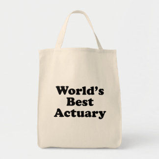 World's Best Actuary Tote Bag