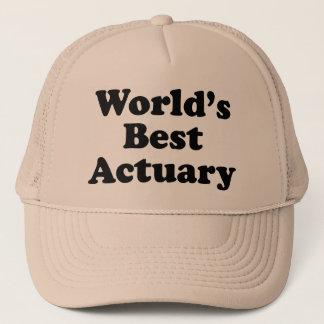 World's Best Actuary Trucker Hat