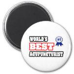 World's Best Acupuncturist Refrigerator Magnets