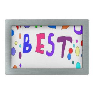 Worlds Best Add Text Rectangular Belt Buckles