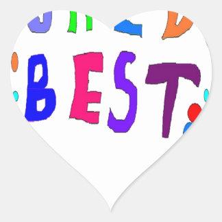 Worlds Best Add Your OWN Text Heart Sticker