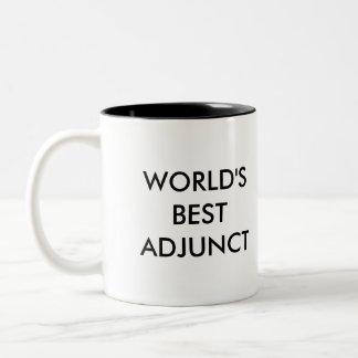 World's Best Adjunct Two-Tone Coffee Mug
