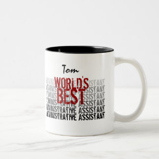 World's Best Administrative Assistant Red Black Two-Tone Coffee Mug