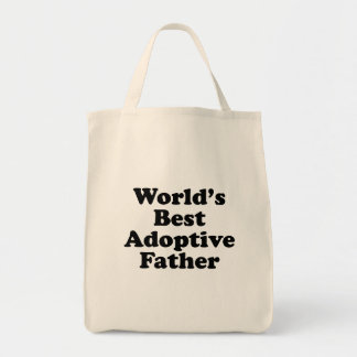 World's Best Adoptive Father Tote Bag