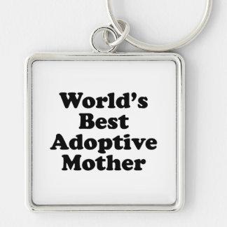World's Best Adoptive Mother Keychain