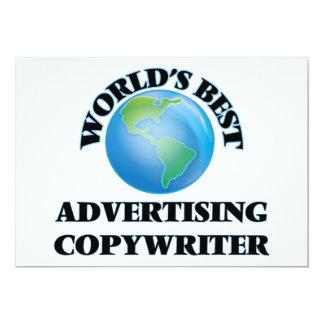 "World's Best Advertising Copywriter 5"" X 7"" Invitation Card"