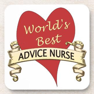 World's Best Advice Nurse Coaster