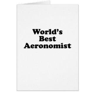 World's Best Aeronomist Card