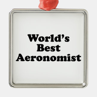 World's Best Aeronomist Metal Ornament