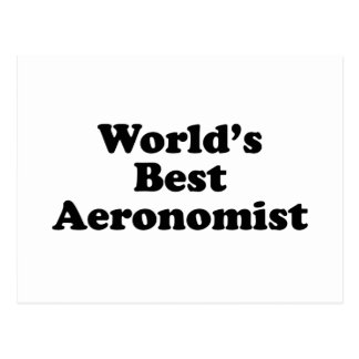World's Best Aeronomist Postcard