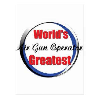 Worlds best Airgun Operator Postcard