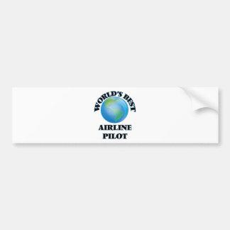 World's Best Airline Pilot Bumper Sticker