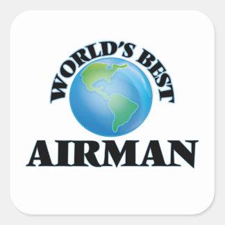 World's Best Airman Square Sticker