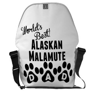 World's Best Alaskan Malamute Dad Messenger Bags