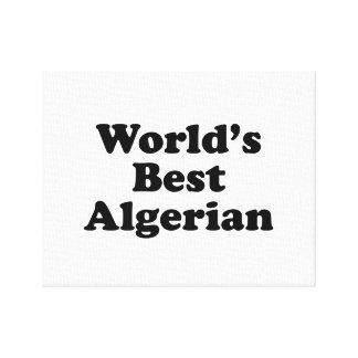 World's Best Algerian Canvas Print