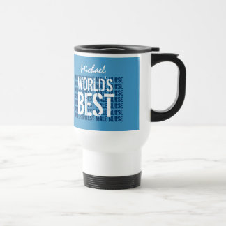 World's Best and Brightest Male Nurse M01 Travel Mug