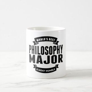 World's Best And Most Humble Philosophy Major Classic White Coffee Mug