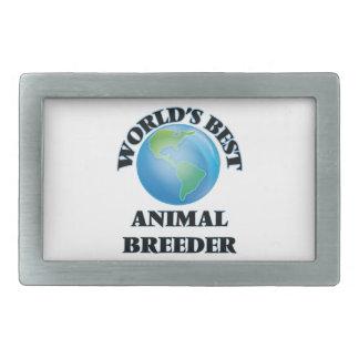 World's Best Animal Breeder Rectangular Belt Buckle