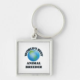World's Best Animal Breeder Keychain
