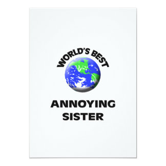 World's Best Annoying Sister 5x7 Paper Invitation Card