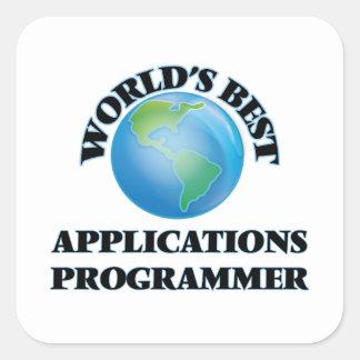 World's Best Applications Programmer Square Sticker