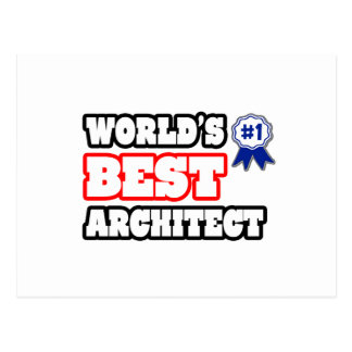 World's Best Architect Postcard