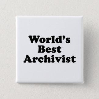 Worlds' Best Archivist Button