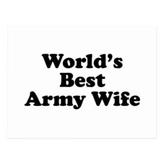 World's Best Army Wife Postcard