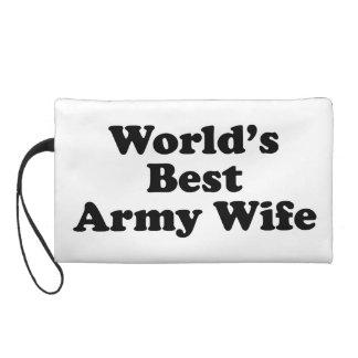 World's Best Army Wife Wristlet Purse