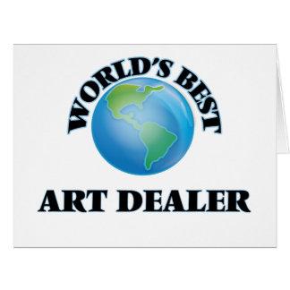 World's Best Art Dealer Large Greeting Card