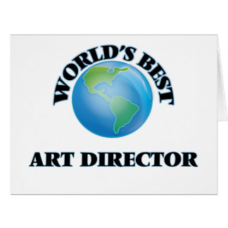 World's Best Art Director Large Greeting Card