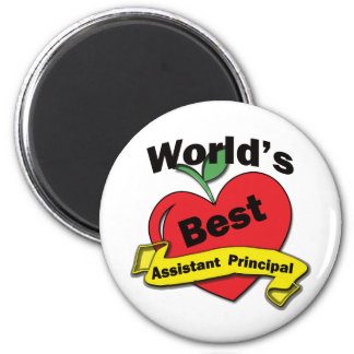 World's Best Assistant Principal 2 Inch Round Magnet