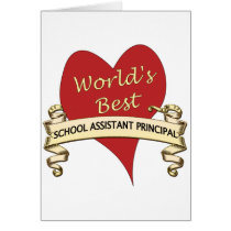 World's Best Assistant Principal Card