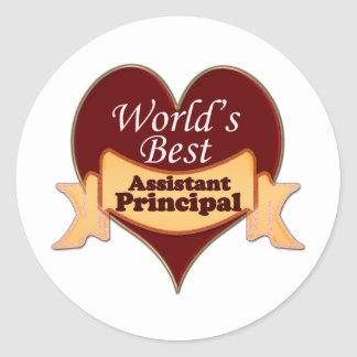 World's Best Assistant Principal Classic Round Sticker
