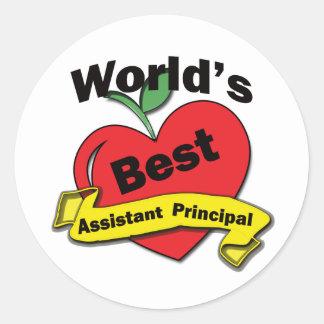 World's Best Assistant Principal Classic Round Sticker