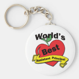 World's Best Assistant Principal Keychain