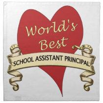 World's Best Assistant Principal Napkin