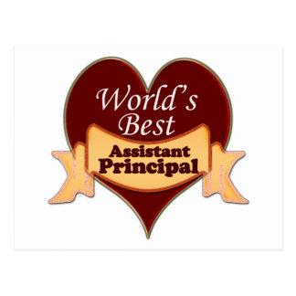 World's Best Assistant Principal Postcard