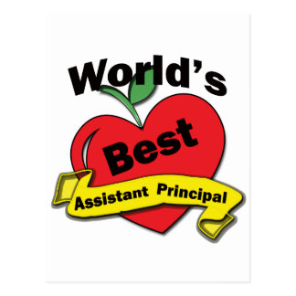 World's Best Assistant Principal Postcard