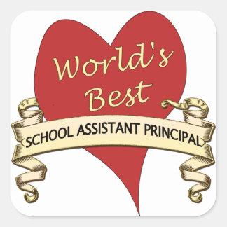 World's Best Assistant Principal Square Sticker