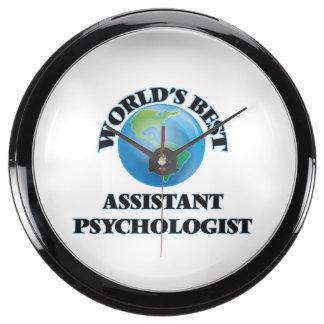 World's Best Assistant Psychologist Aqua Clocks