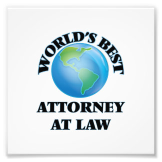 World's Best Attorney At Law Photograph