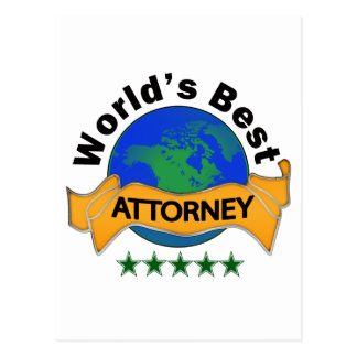 World's Best Attorney Postcard