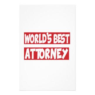 World's best Attorney. Customized Stationery