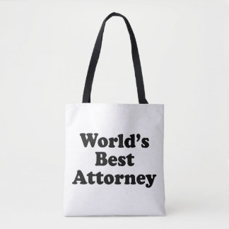 World's Best Attorney Tote Bag