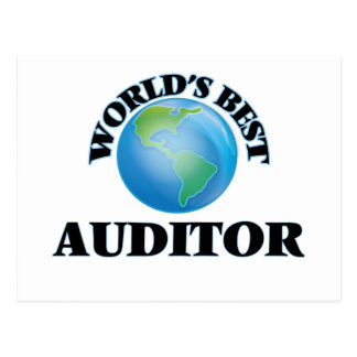 World's Best Auditor Post Cards