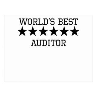 World's Best Auditor Postcards