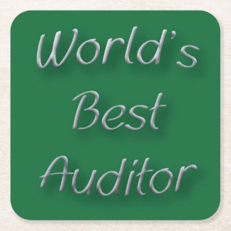 World's Best Auditor Square Paper Coaster