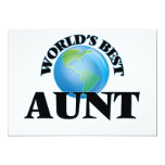 "World's Best Aunt 5"" X 7"" Invitation Card"