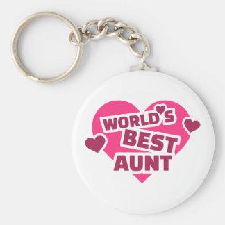 World's best Aunt Basic Round Button Keychain